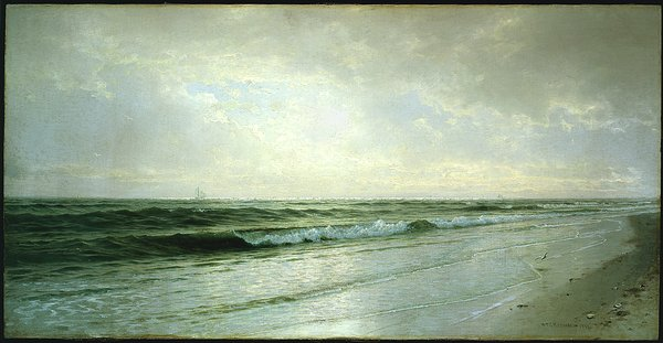 calme paysage marin de William Trost Richards (1833-1905, United States) | Reproductions D'art De Musée William Trost Richards | WahooArt.com
