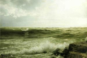 William Trost Richards - Rocky Seacoast
