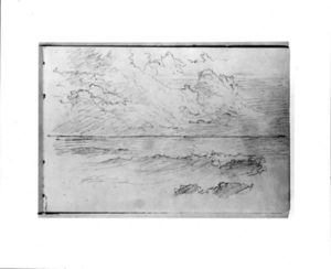 William Trost Richards - croquis des nuages et mer