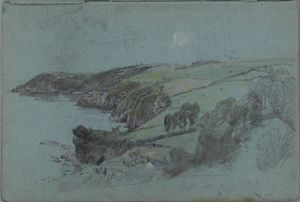 William Trost Richards - Sketchbook de Anglais  côtière  paysage