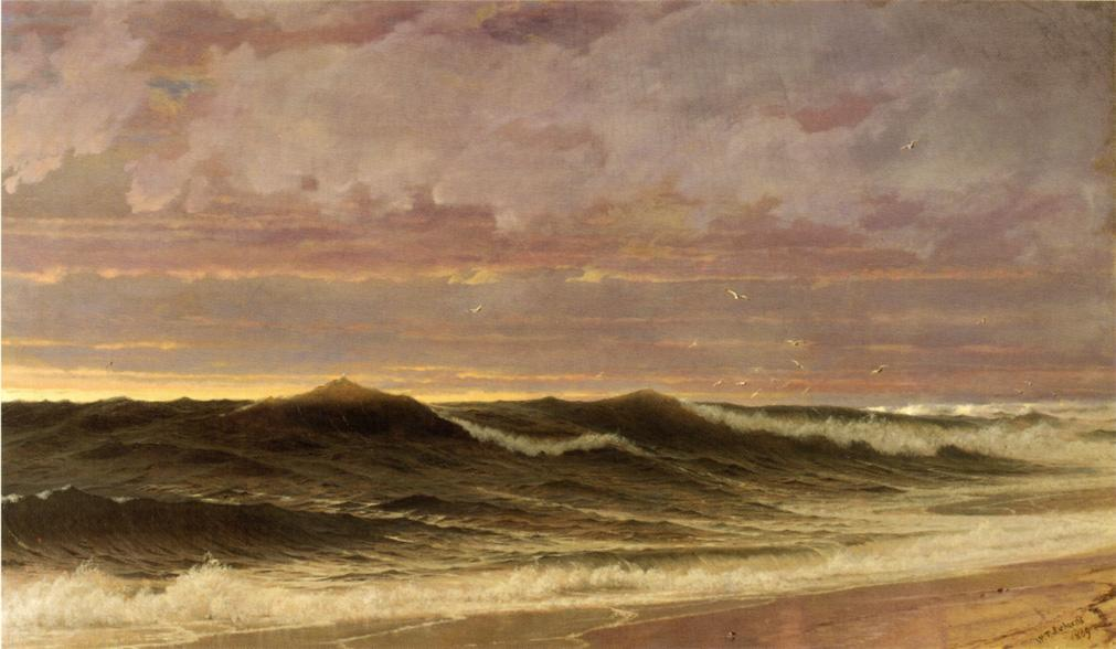 Achat Reproductions De Qualité Musée | Sud Nantucket, 1869 de William Trost Richards (1833-1905, United States) | WahooArt.com