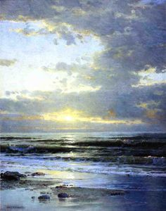 William Trost Richards - lever du soleil sur la plage