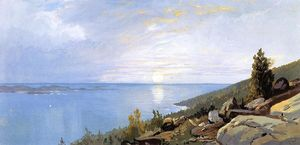 William Trost Richards - Lever de soleil sur Schoodic