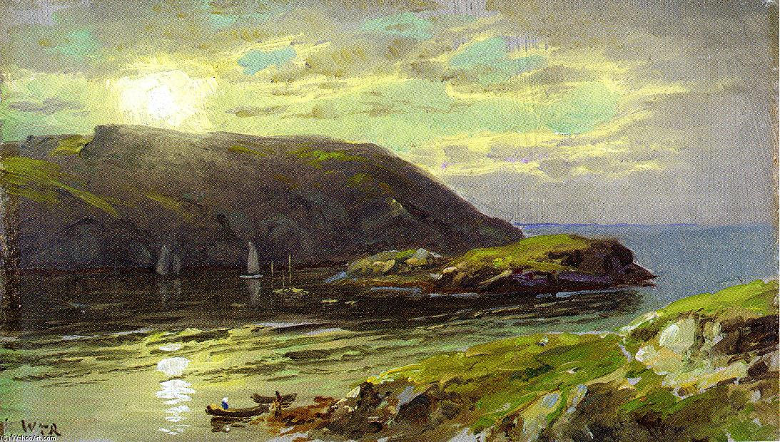 Achat Reproductions De Qualité Musée | Le Harbor à Monhegan de William Trost Richards (1833-1905, United States) | WahooArt.com