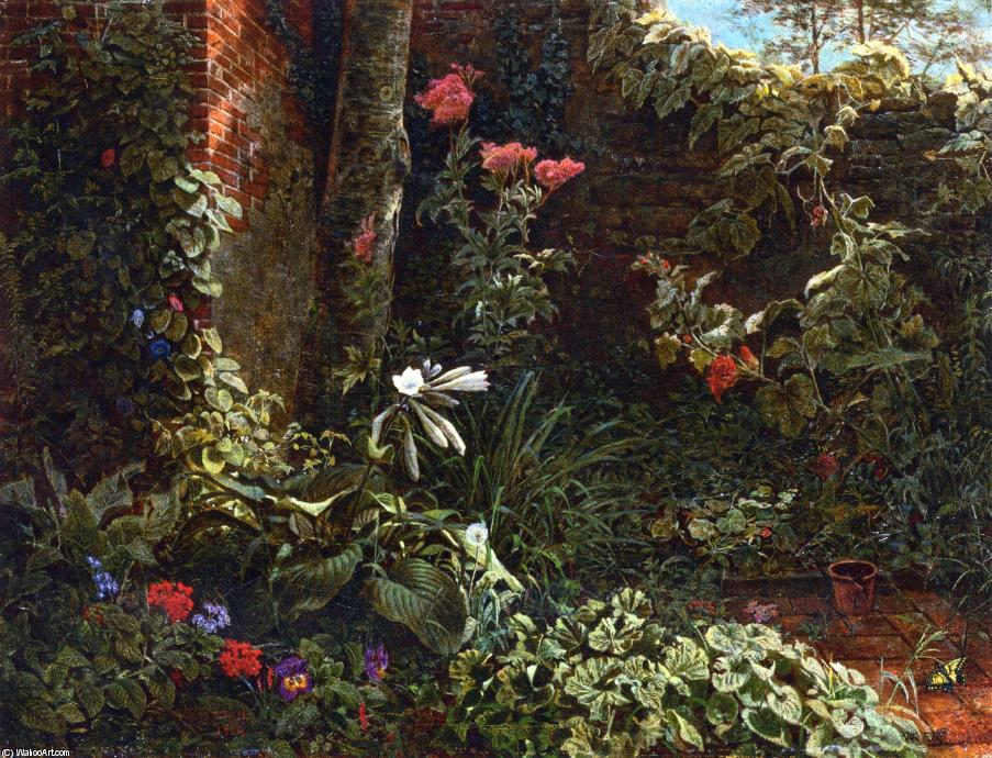 le jardin l abandon huile sur toile de william trost richards 1833 1905 united states. Black Bedroom Furniture Sets. Home Design Ideas