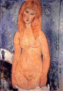 Amedeo Modigliani - Blonde nue