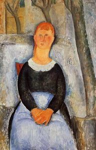 Amedeo Modigliani - La Belle Grocer