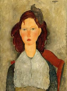 Amedeo Modigliani - Jeune fille assise