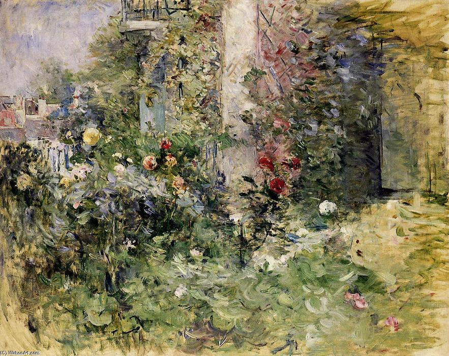 le jardin bougival huile sur toile de berthe morisot 1841 1895 france. Black Bedroom Furniture Sets. Home Design Ideas