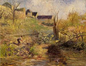 Camille Pissarro - Paysage à Osny 1