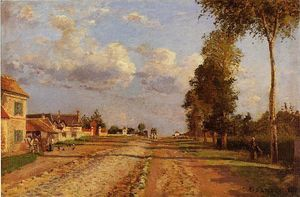 Camille Pissarro - Road to Racquencourt
