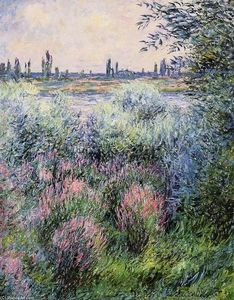 Claude Monet - Un spot sur les rives de la Seine