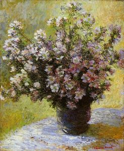 Claude Monet - Bouquet de Mauves