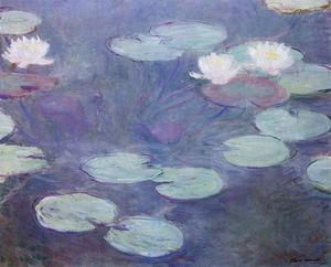 Claude Monet - rose nénuphars