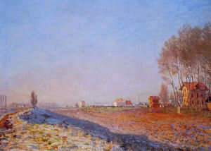 Claude Monet - La plaine de Colombes, White Frost