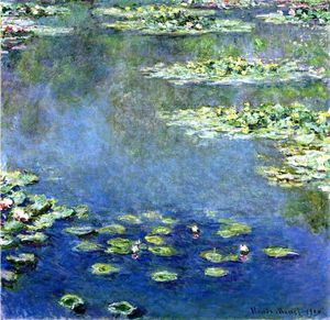 Claude Monet - nénuphars - (copie de tableau)