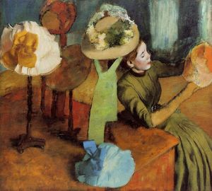 Edgar Degas - La Chapellerie Boutique