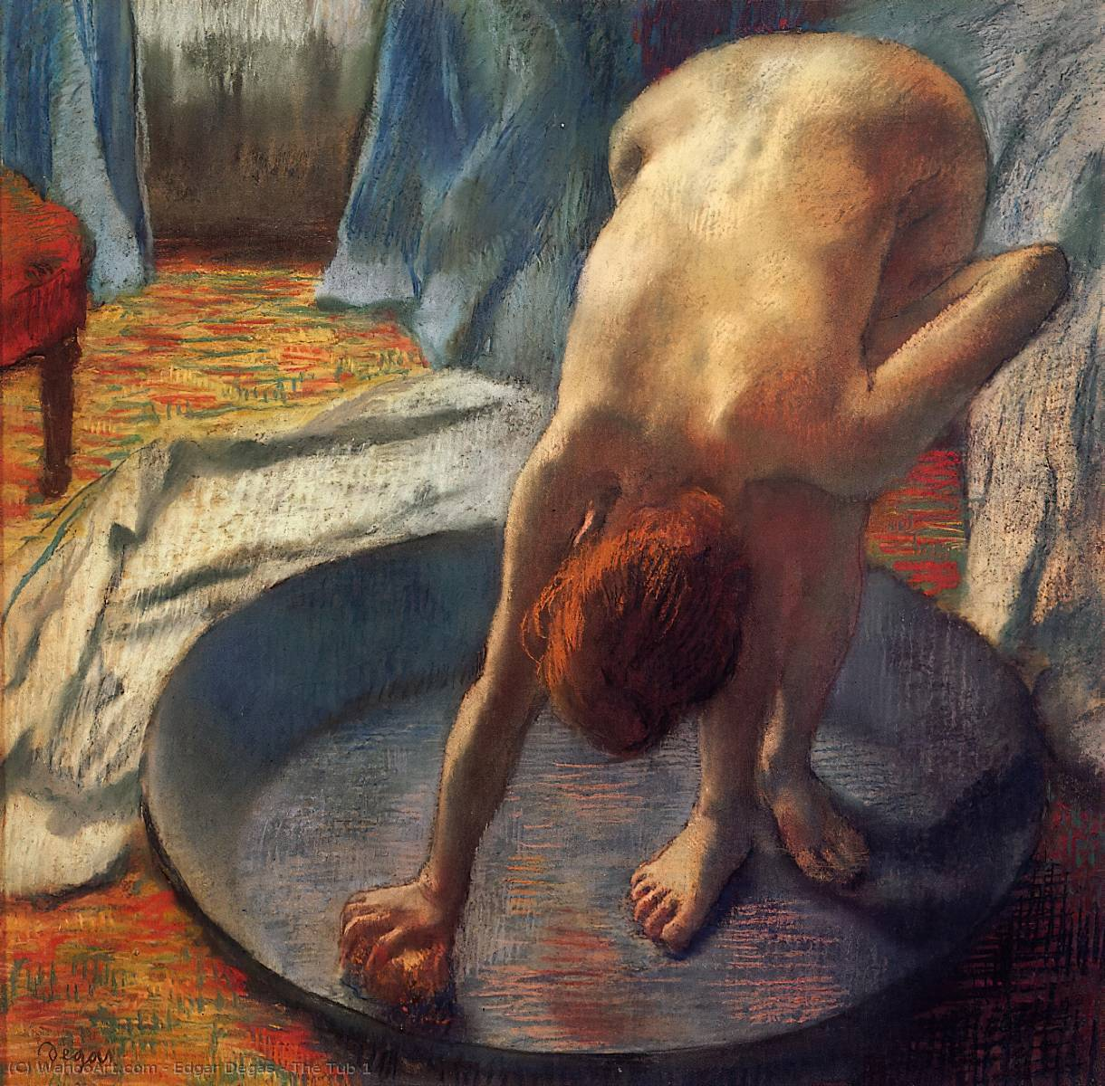 Le Tub 1  , 1886 de Edgar Degas (1834-1917, France)