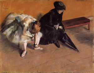 Edgar Degas - attente