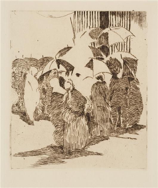 La file d attente devant la boucherie dessin de edouard for Devant le miroir manet