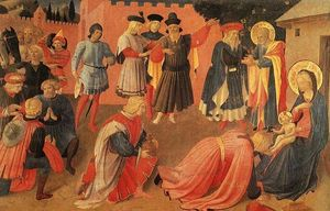 Fra Angelico - D adoration of les mages 2