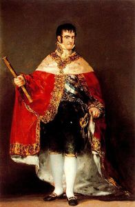 Francisco De Goya - Fernando VII avec manteau royal