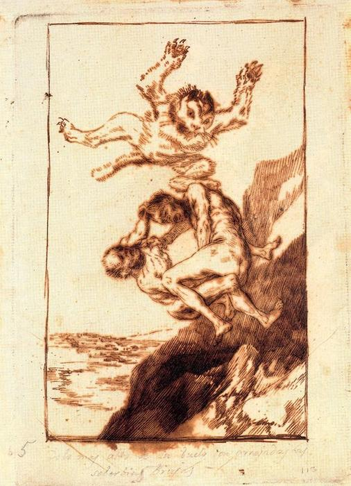 Quien lo creyera! de Francisco De Goya (1746-1828, Spain) | Reproductions D'art De Musée Francisco De Goya | WahooArt.com