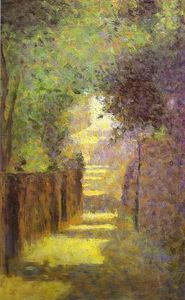 Georges Pierre Seurat - Rue Saint-Vincent , Butte montmartre , au printemps
