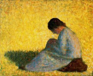 Georges Pierre Seurat - Femme assise