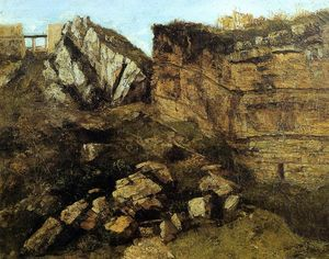 Gustave Courbet - Effritement Rocks