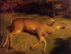 Gustave Courbet - mort cerf