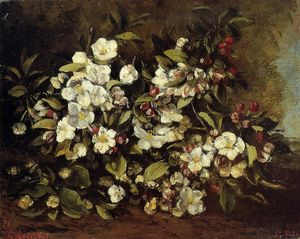 Gustave Courbet - flowering` pomme arbre branche