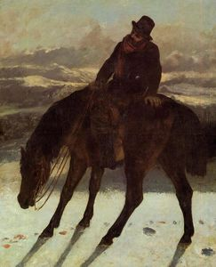 Gustave Courbet - Hunter à cheval Redcovering le Trail