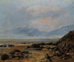 Gustave Courbet - Littoral rocheux