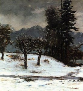 Gustave Courbet - neiges