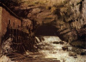 Gustave Courbet - le source of le Loue 1