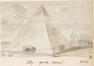 Jacques Louis David - Etude d une pyramide