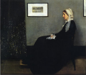 James Abbott Mcneill Whistler - arrangement en gris et noir . Portrait du Painter-s Mère