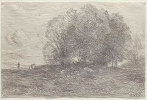 Jean Baptiste Camille Corot - groupe d' arbres