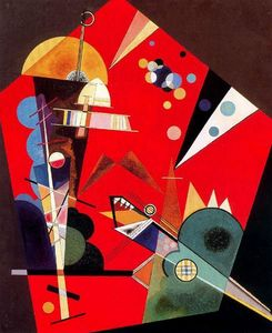 Wassily Kandinsky - Tension en rouge