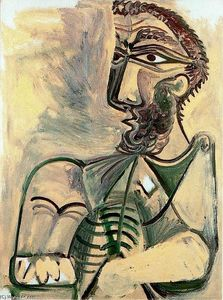 Pablo Picasso - assis homme 3