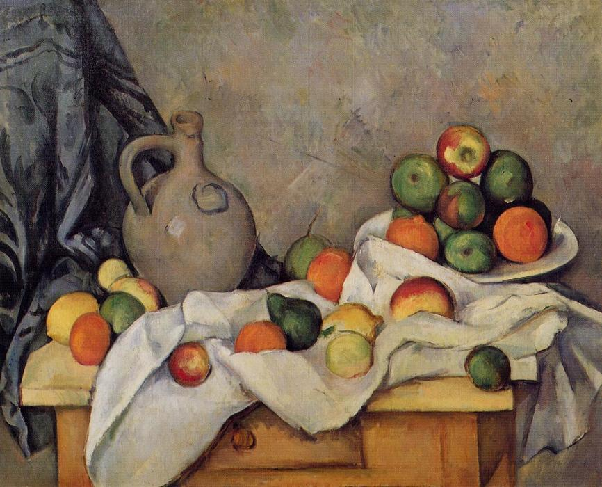 Achat Reproduction Peinture : rideau cruche  et  fruits , 1894 de Paul Cezanne (1839-1906, France) | WahooArt.com