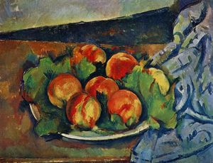 Paul Cezanne - Plat de Peaches