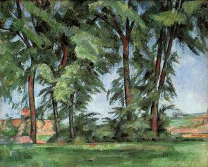 Paul Cezanne - Tall Trees au Jas de Bouffan