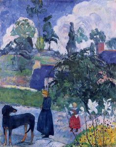 Paul Gauguin - Parmi les lillies