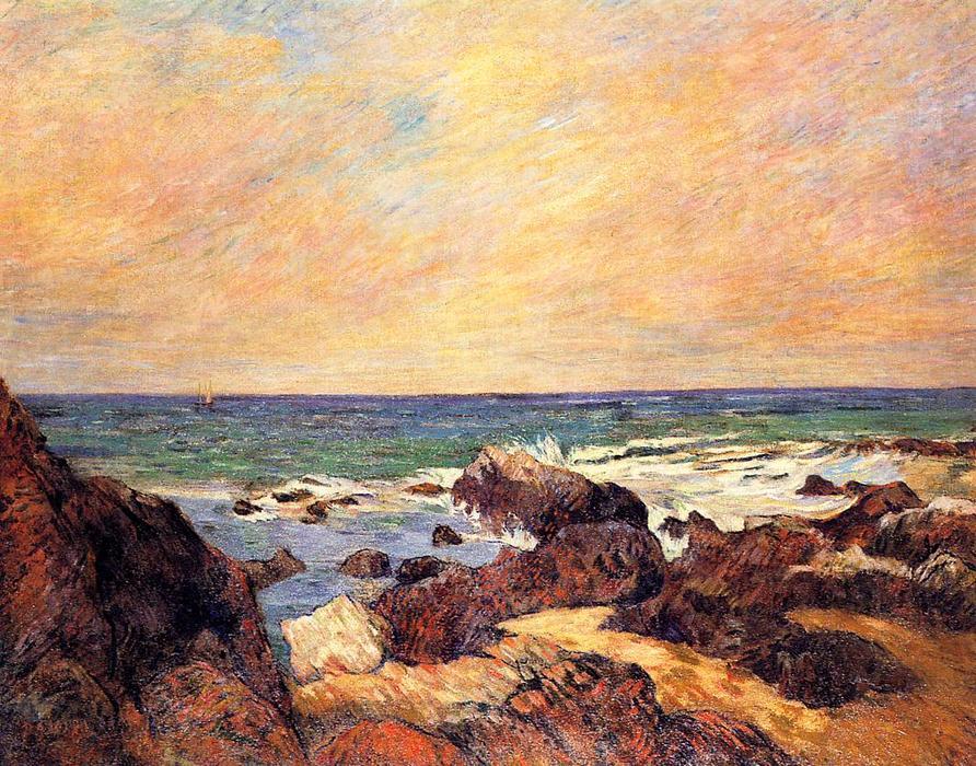 rocks et mer, 1886 de Paul Gauguin (1848-1903, France ...