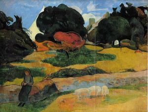 Paul Gauguin - Le porcher