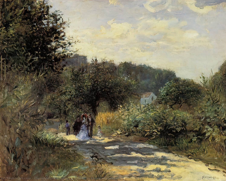 A route dans louveciennes huile sur toile de pierre for Renoir maison classique