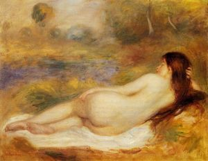Pierre-Auguste Renoir - nu inclinable sur l- herbe