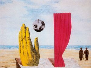 Rene Magritte - collage soie